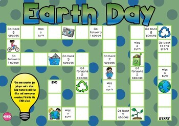 Earth Day Themed Game Board