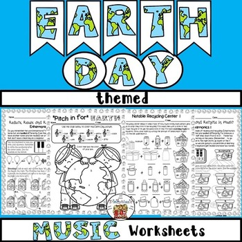 Earth Day Themed Music Worksheets