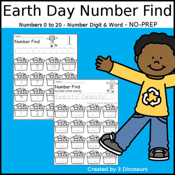 Earth Day Themed Number Find