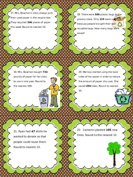 Earth Day Themed Rounding SCOOT {Editable}