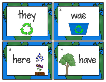 Earth Day Themed:  Sight Word Write the Room