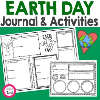 Earth Day Think Book Student Journal