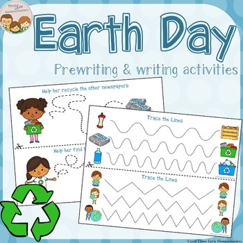 Earth Day Tracing - Prewriting & Writing Center Activities