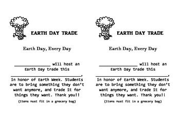 Earth Day Trade Flyer