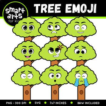 Earth Day Tree Emoji Clip Art