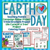 Earth Day Trifold Brochure Project, Teaching Posters, Life Cycle of a Tree