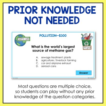 Earth Day Trivia Game