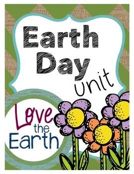 Earth Day Unit Math & ELA Grades 3-5