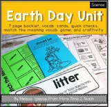 Earth Day Unit {Mini Booklet, Vocab. Cards, Quick Checks, and More...}