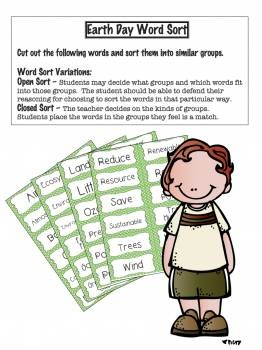 Earth Day Vocabulary Activities!