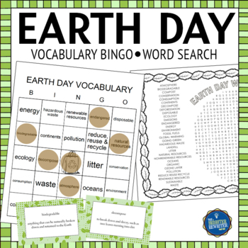 Earth Day Vocabulary Bingo