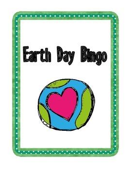 Earth Day Vocabulary Bingo Game