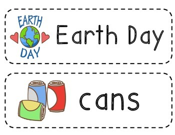 Earth Day Vocabulary Cards Freebie