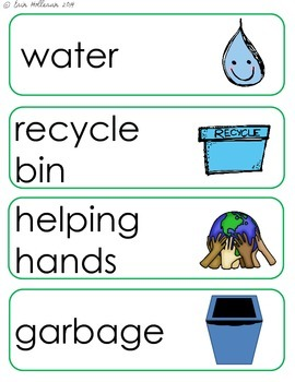 Earth Day Vocabulary Cards and Spelling Practice