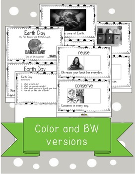 Earth Day Activity Vocabulary Book and Song with Comprehension Questions