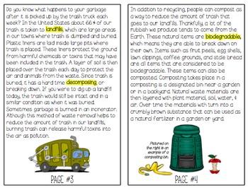 Earth Day Vocabulary Mini Book for BIG KIDS
