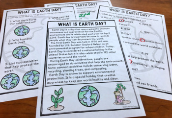Earth Day Vocabulary NO Prep Packet  Elementary Science, ELA, Speech Therapy