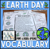 Earth Day Vocabulary NO Prep Packet: Print & Digital