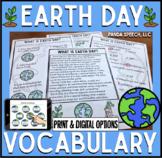 Earth Day Vocabulary NO Prep Packet: Print & Digital