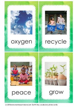 Earth Day Vocabulary Photo Cards