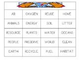 Earth Day Vocabulary-Traceable Word List