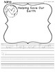 Spring Earth Day WRITING PRINT& GO + COLOR BY NUMBER {Kindergarten}