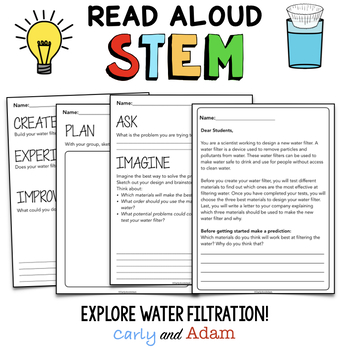 Earth Day Water Filter STEM The Water Princess Read Aloud STEM Activity