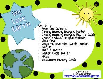 Earth Day:  We Love Earth Unit