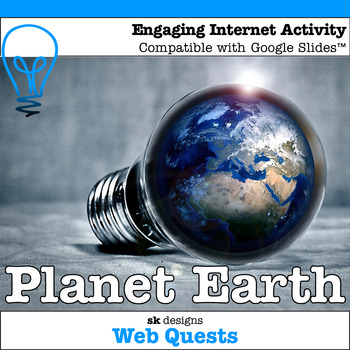 Earth Day WebQuest - Engaging Internet Activity {Includes Google Slides option}