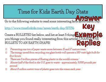 Earth Day Webquest - Editable in Google Slides - NO PREP