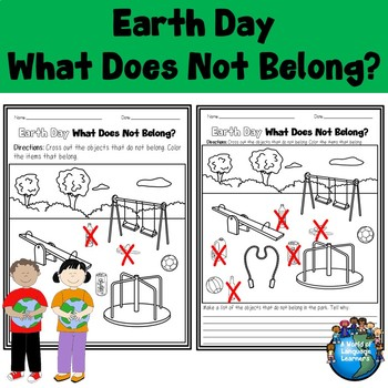 Earth Day What Does Not Belong Coloring Sheets