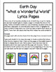 Earth Day What a Wonderful World Lyric Pages
