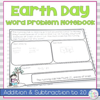 Earth Day Word Addition and Subtraction Word Problems