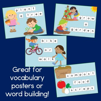 Earth Day Word Building for Preschool and Kindergarten