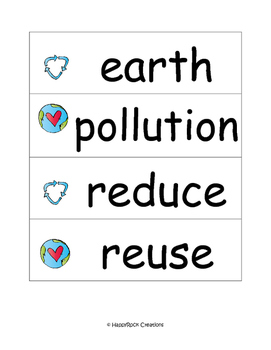 Earth Day Word Cards