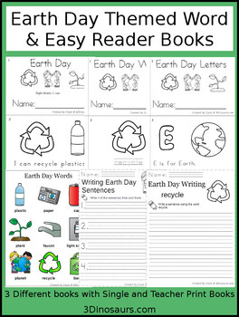 Earth Day Word & Easy Reader Books