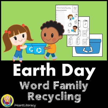 Earth Day Word Family Recycling