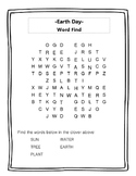 Earth Day- Word Find