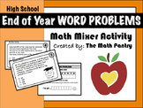 End of Year Word Problems - Math Mixer Activity - High School