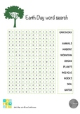 Earth Day Word Seach Printable