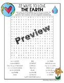 Earth Day Word Search: 22 Ways to Love the Earth
