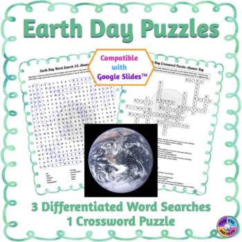 Earth Day Word Search & Crossword Puzzles: Print & Paperless Versions