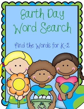 Earth Day Word Search--Find the Words for K-2
