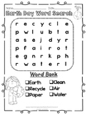 Earth Day Word Search Kindergarten