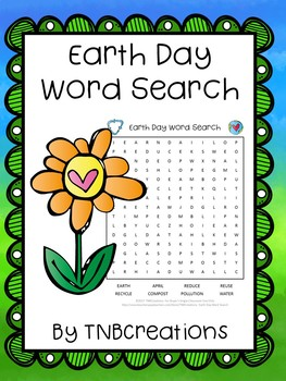 Earth Day Word Search Worksheets