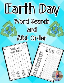 Earth Day Word Search and ABC Order *FREEBIE*