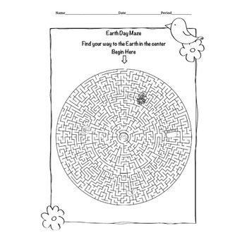 Earth Day Word Search Word Builder and Maze