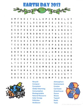 Earth Day Word Search for Everyone