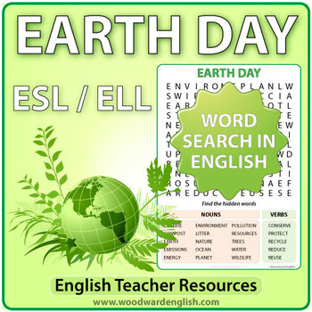Earth Day Word Search in English