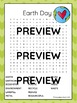 Earth Day Word Search with Answer Key